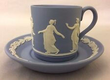 Wedgwood Jasperware Blue Demitasse Cup And Saucer Dancing Hours