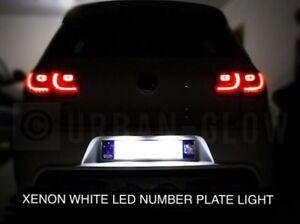 VW GOLF MK5 MK6 MK7 XENON BRIGHT WHITE LED NUMBER PLATE LIGHT UNITS NO ERROR