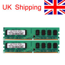 4GB 2x 2GB 2Rx8 PC2-5300 DDR2-667MHz 240pin DIMM Desktop Memory For Intel #6H UK