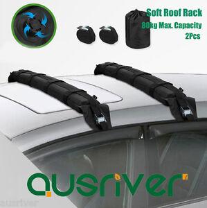 2Pcs Pack Universal Inflatable Soft Roof Racks Bars Kayak Surfboard Carrier 80kg