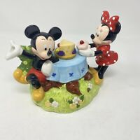 Disney Parks Mickey And Minnie Mouse On Picnic Teapot Decorative FLAWS