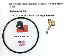 Replacement Belt for Thumler's Tumbler Models T-100 & MP-1 (3) &FREE LUBRICANT!