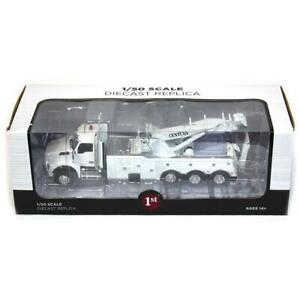 1/50 White Kenworth T880 with Century 1060 Rotator Wrecker by First Gear 50-3467