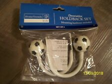 Brand New! Soccer Decorative Holdback Set For Curtains Or Drapery + Hardware!