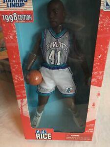 "1998 Kenner Starting Lineup NBA Charlotte Hornets Glen Rice 12"" Figure New Box!"