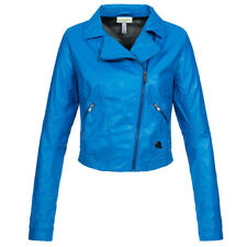 adidas NEO Damen ST Jacket Jacke Bikerjacke Freizeit blau Z49582 Damenjacke neu