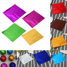 100x Foil Sweet Wrappers- Chocolate Confectionery Party Wedding 80x80mm Squares