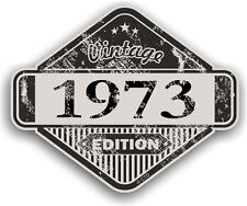 Aged Distressed Vintage Edition Yr 1973 Retro Cafe Racer Motorcycle car sticker