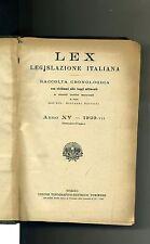 Giovanni Davicini # LEX LEGISLAZIONE ITALIANA-RACCOLTA CRONOLOGICA # UTET 1929