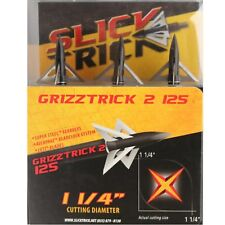"""Slick Trick Broadheads Grizz Trick Ss 3pk 125g 1 1/4"""" Cut Dia Super Steel 04806"""