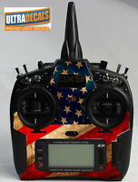 Spektrum DX9 Transmitter American USA Flag Controller Skin Wrap Decal
