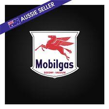 Vintage Style MOBILGAS Mobil Gasoline Oil Sticker - Garage Shed workshop car