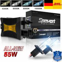 Pair 55W H7 6000K HID Xenon Auto Licht Brenner Scheinwerfer Ballast Birne LED