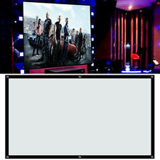 Portable 100'' inch Fabric Matte White Projector Projection Screen Home New