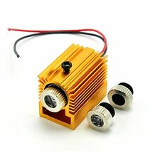 405nm 10mW Violet/Blue Focusable Dot/Line/Cross Laser Diode Module w/ Heatsink