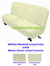 CHEVROLET TRUCK, STANDARD CAB FACTORY REPLACEMENT SEAT COVERS whitewhite 1967-72