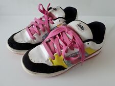 Used Womens Nike Skate/Casual Shoes, Pink and Yellow US 8, UK 5.5, EUR 39, 25 CM
