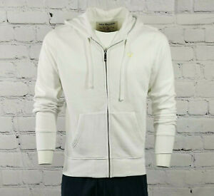 Mens True Religion Zip Hoodie in White & Gold Classic Fit Hooded Jacket in Small