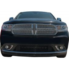 Fits Dodge Durango 2013-2016 Chrome ABS Top Mesh Grille Overlay Insert