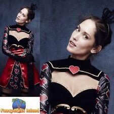 Fever Queen Of Hearts Costume FairyTale Wonderland Women's Fancy Dress Costume