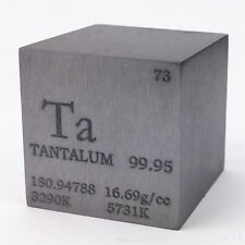 1 inch 25.4mm Tantalum Metal Cube 274g 99.95% Engraved Periodic Table