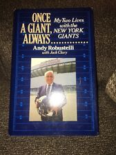 SIGNED AUTOGRAPHED ANDY ROBUSTELLI ONCE A GIANT ALWAYS HARDCOVER BOOK HOF NFL