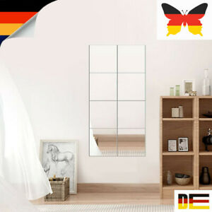 16x DIY Spiegelfliesen Spiegelaufkleber Selbstklebend Wandspiegel Spiegelfolie