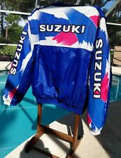 Vintage Suzuki Womens Snowmobile Jacket Winter Zip Off arms for vest look. Sz XL
