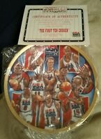FIRST TEN CHOSEN SPORTS IMPRESSIONS 1992 USA BASKETBALL 8 1/2 GOLD EDITION PLATE