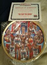 FIRST TEN CHOSEN SPORTS IMPRESSIONS 1992 USA BASKETBALL 8 1/2 GOLD EDITION PLATE