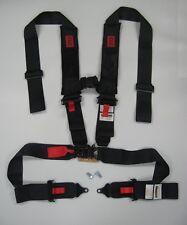 "UTV Seat Belt 3""x3"" 4 Point Harness w/ 2 Front Phone Bag -Black (2 Set)"