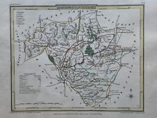 1809 Radnorshire Antique Hand Coloured County Map by Cole & Roper