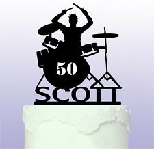 Personalised Drummer Cake Topper - Drums