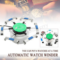 110V-220V Automatic Watch Winder Left Right Rotation for 6 Watches Repair Tool