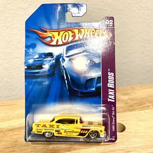 2007 Hot Wheels #50/180 Taxi Rods 2/4 1955 CHEVY BEL AIR Yellow