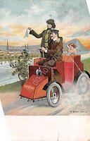 Cartolina - Postcard - - Illustrata -  Auto d'epoca - Th. Bauer - Wien - anni 10