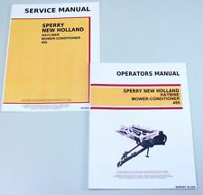 Set New Holland 495 Haybine Mower Conditioner Service Operators Owners Manual