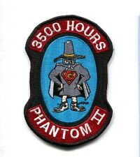 McDONNELL F-4 F-4G PHANTOM 3500 FLIGHT HOURS USAF TFS Fighter Squadron Patch
