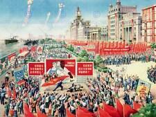 PROPAGANDA COMUNISMO CINA MAO Rosso Grande Poster Art Print bb2341a