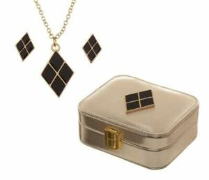 Bioworld Harley Quinn Jewelry Necklace and Earring Gift Set with Case
