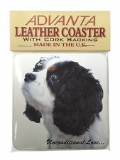 Tri-Col King Charles-With Love Single Leather Photo Coaster Animal B, AD-SKC6uSC