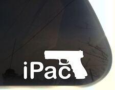 iPac - funny die cut gun control & 2nd Amendment decal/sticker NOT PRINTED