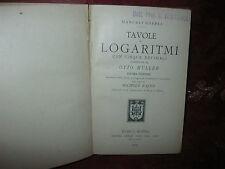 Manuali Hoepli Tavole di Logaritmi di Otto Muller 1909