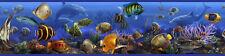 (34,17€/1m²)  RoomMates® Bordüre ablösbar Ozean Fische Meer Aquarium Unterwasser