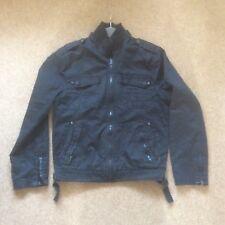 Mens black casual cotton jacket Burton small