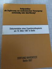 Heilpraktiker Buch Medizinische Versorgung Notwendig Oder Überflüssig