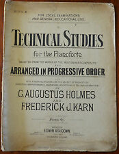 Technical Studies for The Pianoforte Book 4 by G. Augustus & F. J. Karn