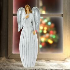 Winter XMAS Angel standing figure Christmas living room Vintage table decoration