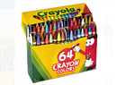 Crayola Crayons Box with Sharpener 64 Crayons assorted colors