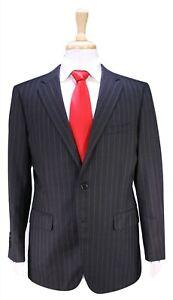 PAUL STUART Recent Charcoal Gray Striped 2-Btn Wool Luxury Suit 40S